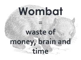 Wombat - kein australisches Beuteltier